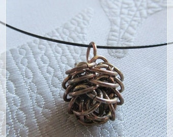 Chainmaille Pine Cone pendant