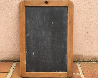 Vintage Childs blackboard,slate chalk board,old school house, french wood 5