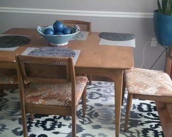 Mid-century table and chair set