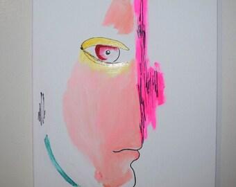 Futuristic expressionism art piece