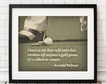 Golf Print, Golf Art, Arnold Palmer Quote, Poster, Home Gym, Golf Decor, Sports Wall Decor, Man Cave Art, Office Decor, Golf Gifts for Men