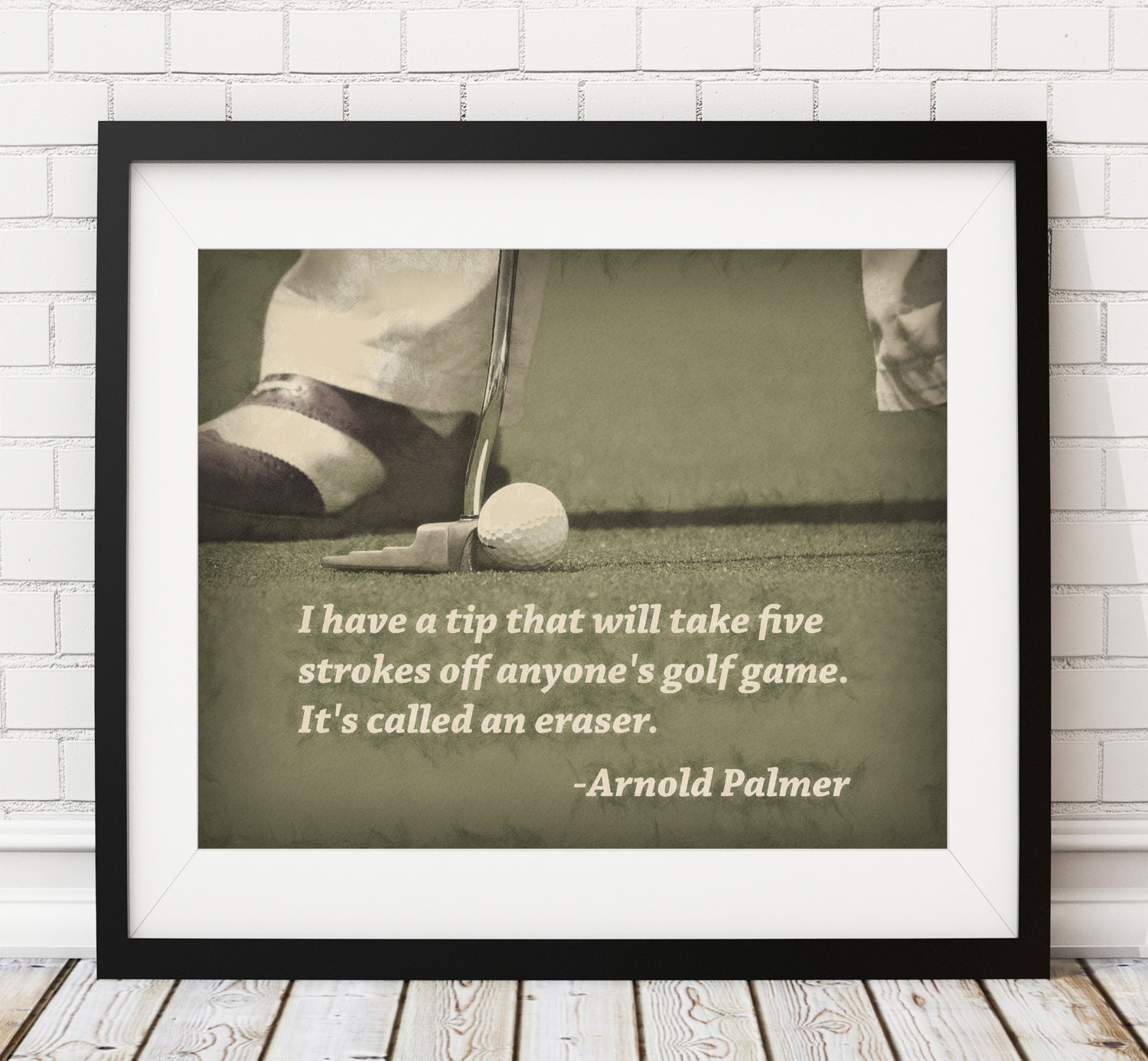 Delightful Golf Print, Golf Art, Arnold Palmer Quote, Poster, Home Gym, Golf Decor,  Sports Wall Decor, Man Cave Art, Office Decor, Golf Gifts For Men