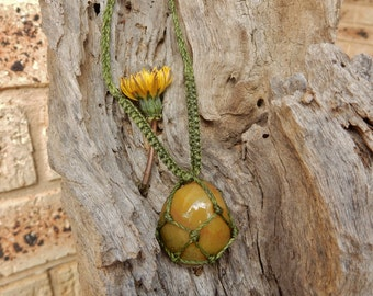 Agate Macrame Necklace