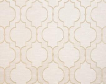 Upholstery/Drapery Jacquard Fabric Santana 400 Pearl By The Yard