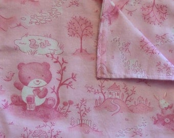 Burp Cloth - Pink Baby Bear