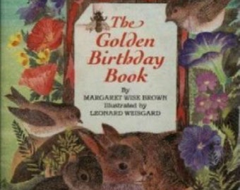 The Golden Birthday Book by Margaret Wise Brown -Brand New!