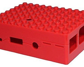 RED Building Brick Raspberry Case (LEGO Compatible)
