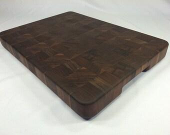 """End Grain Cutting Board (Walnut, 17.5"""" x 12.75"""")"""