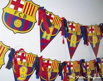 FC Barcelona Birthday Banner - Barcelona Birthday Banner - Banner Barcelona - FC Barcelona Birthday Party