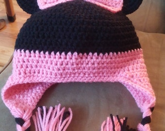 Minnie mouse winter hat