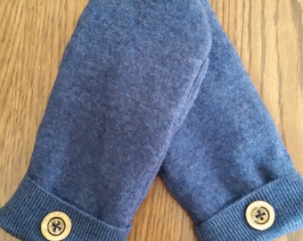 Wool Mittens with fleece lining