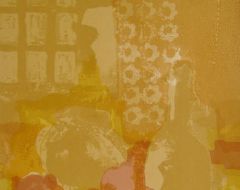 Silkscreen Print   Limited Edition Print    Modern Artwork   Yellow Original Print   Abstract Print   Fine Art Print   Contemporary Print