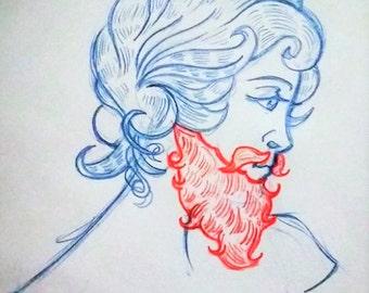 Bearded Lady Tonics 2 oz. Beard Oil - Tesla Scent