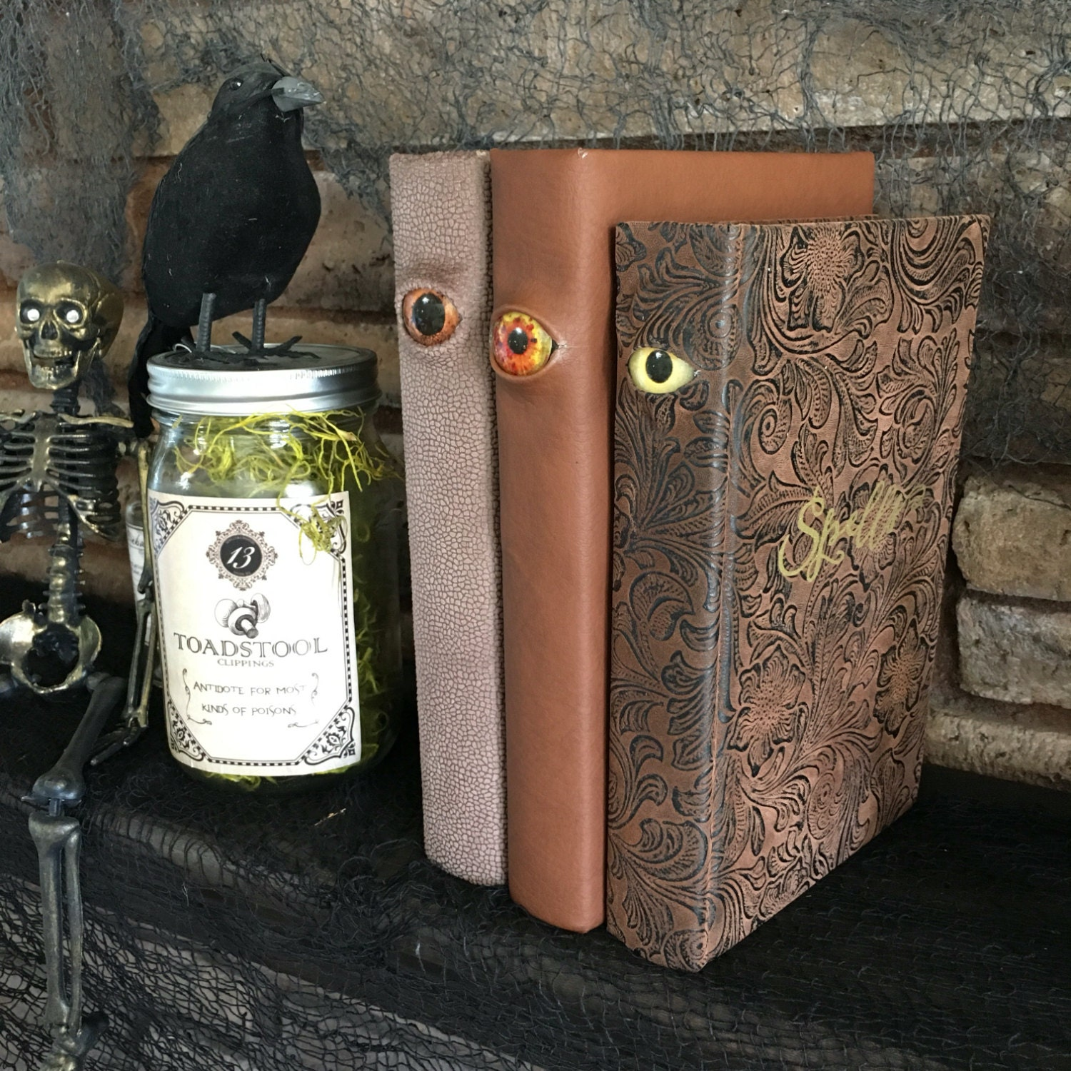 Spooky Halloween Decor // Eyeball Spell Book // Witch Costume
