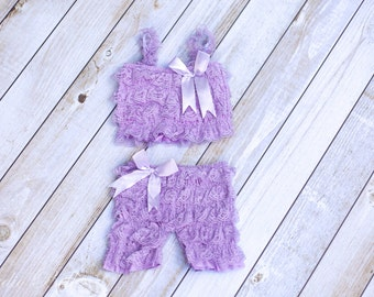 Lace Petti Romper, Baby Petti Romper,  Purple Romper, Baby Bloomers, Cake Smash Outfit, Sitter Outfit, Sitter Romper, 1st Birthday Set