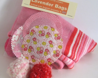 English Lavender - Pinks - Set of 3 Pouches