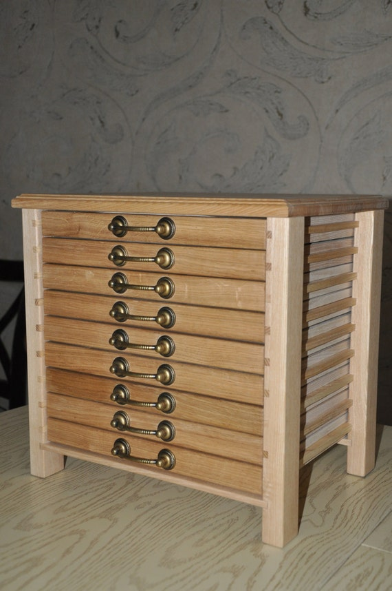 Coin Holder Coin Collectors Cabinet Wooden Jewerly Chest