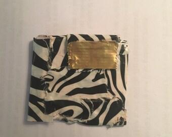 Small Zebra Print Duck Tape Wallet