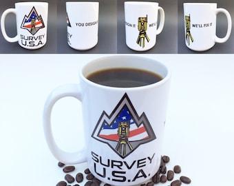 Survey USA 15oz land surveying coffee mug