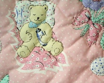 Baby Quilt/Baby Blanket/Hand Made/Baby Girl/Vintage