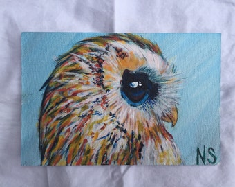 ABSTACT OWL PAINTING
