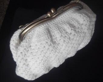 Crochet summer purse