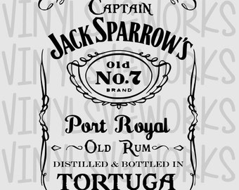 Captain Jack's Rum SVG File