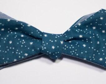 Blue Stars Self-Tie Bow Tie