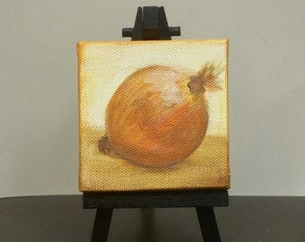 Just an Onion, Onion painting, Tiny Onion Painting