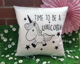 Unicorn Quote Cushion Cover