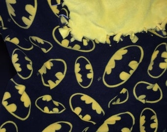 Batman yellow and black fleece throw blanket