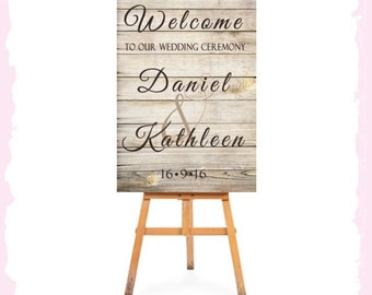 PRINTED Wedding Welcome Sign Customize Names of Bride & Groom Date Ready To Use Reception Ceremony Engagement Sign LARGE Chalkboard Elegant