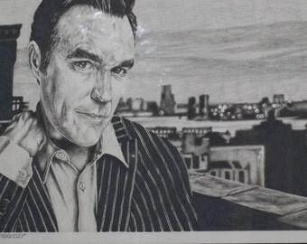 Morrissey  22x28 original colored pencil with black frame