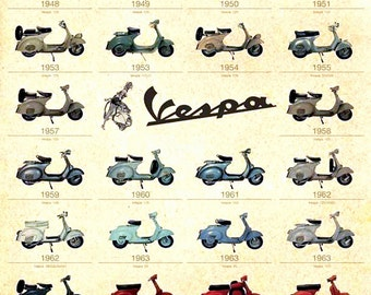 Vespa Metal Sign, Vintage, Retro, Shabby-Chic, Wall Plaque / Fridge Magnet