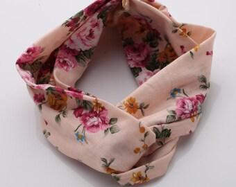 Vintage Print Floral Headband