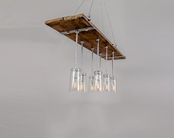 Chandelier From Reclaimed Table Leaf and Drinking Glasses (No.  961 - The Other Chandelier)