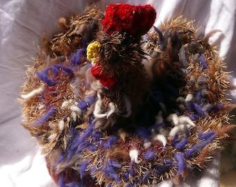 "Chicken hen ""Berta"" chicken ""Berta"" crocheted Poule ""Berta"" crochet"