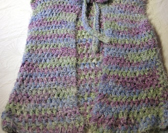 Jacket crochet vest trend colours pastel soft vest for kid or woman