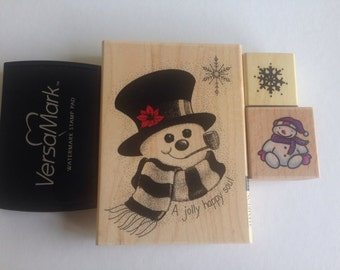 Christmas Stamps + watermark stamp pad