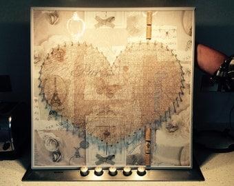 Love heart canvas