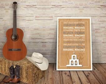 Carrie Underwood - Lyric Poster Print - Church Bells