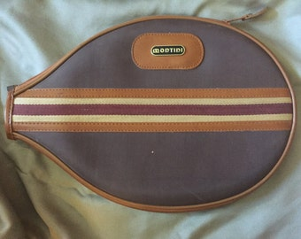 Vintage Montini Tennis Raquet Cover
