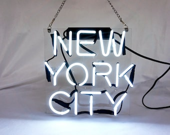 """Brand New NYC 'New York City' USA Real Neon Light Art Sign 10""""x10"""""""