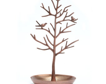 Dazone® Birds Tree Jewelry Stand Display Earring Necklace Holder Organizer Rack Tower