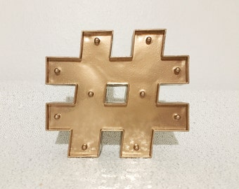 Light Up Copper Hashtag Sign