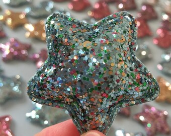 Glitter Blue Star For Hair Accessories - 1 piece