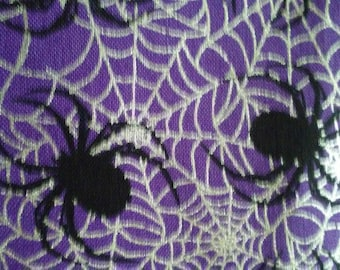 Spiders and webs halloween curtains