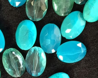 Loose Venetian Aqua Glass Beads For Crafting Blue Vintage Costume