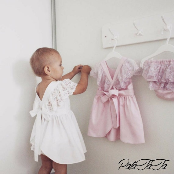 baby girl dress lace white bohemian boho dress. Black Bedroom Furniture Sets. Home Design Ideas