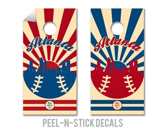 Atlanta Braves Cornhole Board Decals